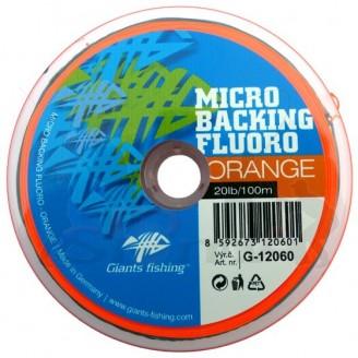 Giants fishing Micro Backing Fluoro-Orange 20lb/100m