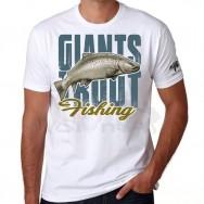 Giants fishing Tričko pánské bílé - Pstruh