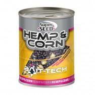 Bait-Tech Konopí a kukuřice v nálevu Hemp & Sweetcorn 350g