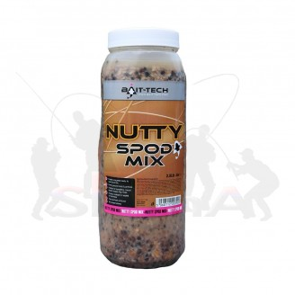 Bait-Tech Partiklová směs s ořechy Nutty Spod Mix Jar 2,5lit