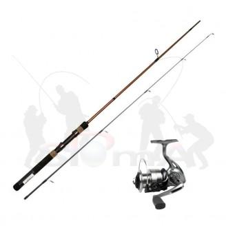 Garbolino vláčecí set prut Strike Spin 1,80 m, 3-15 g + naviják Strike 301 FD