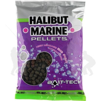 Bait-Tech Pelety bez dírek Halibut Marine 3mm, 900g