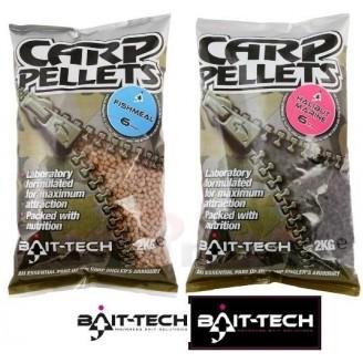 Bait-Tech Pelety Hallibut Carp Feed Pellets 6mm, 2kg