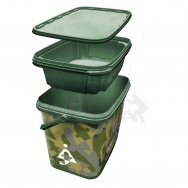 Kbelík 8L Square Camo Bucket with Insert Tray