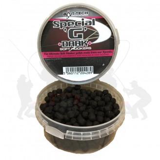 Bait-Tech Měkčené pelety Soft Hookers Special G Dark 90 g