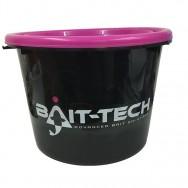 Kbelík s víkem Groundbait Bucket and Lid - černý/růžový