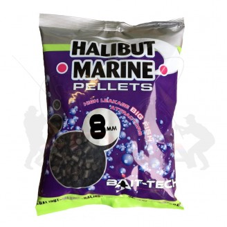 Bait-Tech Pelety bez dírek Halibut Marine 8mm, 900g
