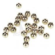 Hlavičky stříbrné - Beads Nickel 2,8 mm/100 ks