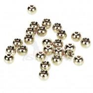 Hlavičky stříbrné - Beads Nickel 3,8 mm/100ks
