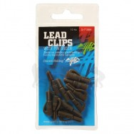 Závěs na zátěžku Lead clips with pin Green/10pc