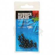 Gumové kuličky Rubber Beads Transparent Green 6mm,20ks