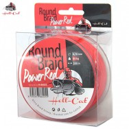 Splétaná šňůra Round Braid Power Red 0,80mm, 100kg, 200m