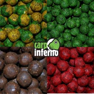 Carp Inferno Boilies Nutra line 20 mm 1 kg|Ostružina&oliheň (červená)