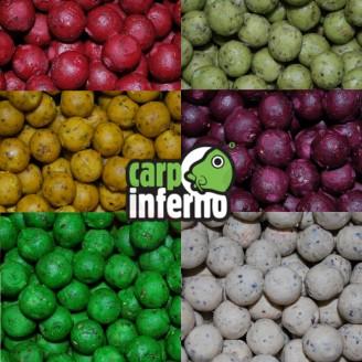 Carp Inferno Boilie rychlé chytání 17 mm 250 g|Česnek (bílá)
