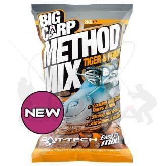 Krmítková směs Big Carp Method Mix Tiger & Peanut 2kg