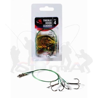 Filfishing Lanko s Trojhákem Treble Hook Leader 4