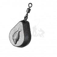 Zfish Zátěž Flat Pear Lead 100g