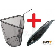 NGT Podběrák 2m Carp Net 42 with Handle + Obal Zdarma!