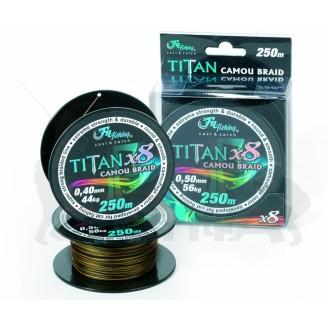 Filfishing Sumcová Šňůra Titan Camou Braid 250m 0,70mm