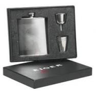 Likérka - Dárkový set Eiger Silver Hip  Flask Gift Set