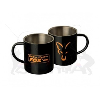FOX Nerezový hrnek Fox Stainless Black XL Mug