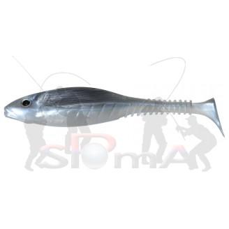 Gunky Grubby Shad SL 13cm Grey Fish